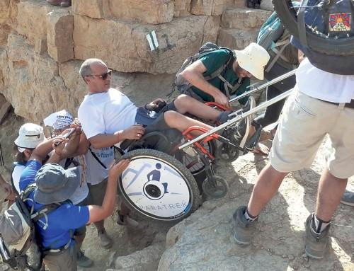 Wheelchair Enhances Annual OneFamily Negev Hike
