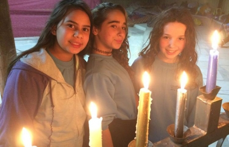 Bereaved Children Light a Candle at OneFamily Chanukah Camp