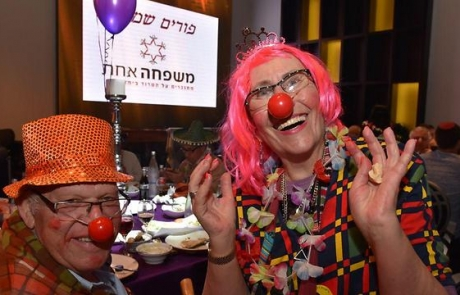 Bereaved Families Celebrate Life at Purim Costume Party